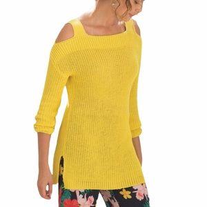 Soft Surroundings Yellow Free Day Sweater